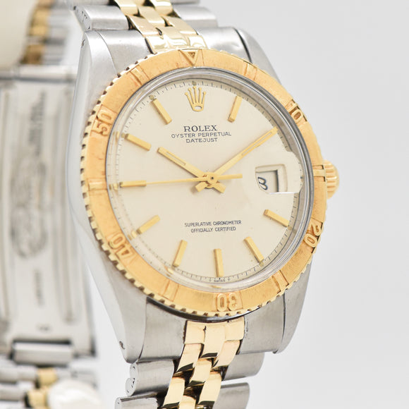 1965 Vintage Rolex Thunderbird Datejust Reference 1625 18k Yellow Gold & Stainless Steel Watch