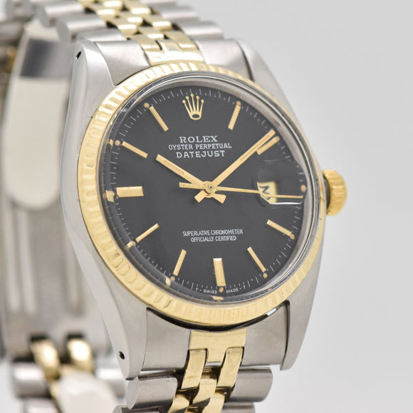 1971 Vintage Rolex Datejust Reference 1601 14k Yellow Gold & Stainless Steel Watch (# 13450)