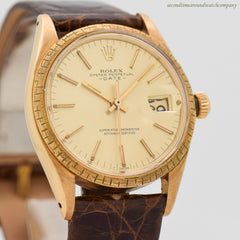 1969 Vintage Rolex Date Automatic Ref. 1504 18K Yellow Gold Watch