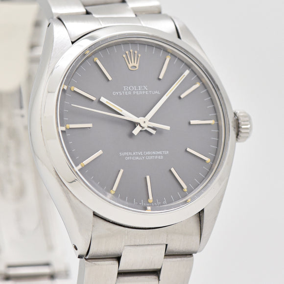 1972 Vintage Rolex Oyster Perpetual Reference 1002 Stainless Steel Watch