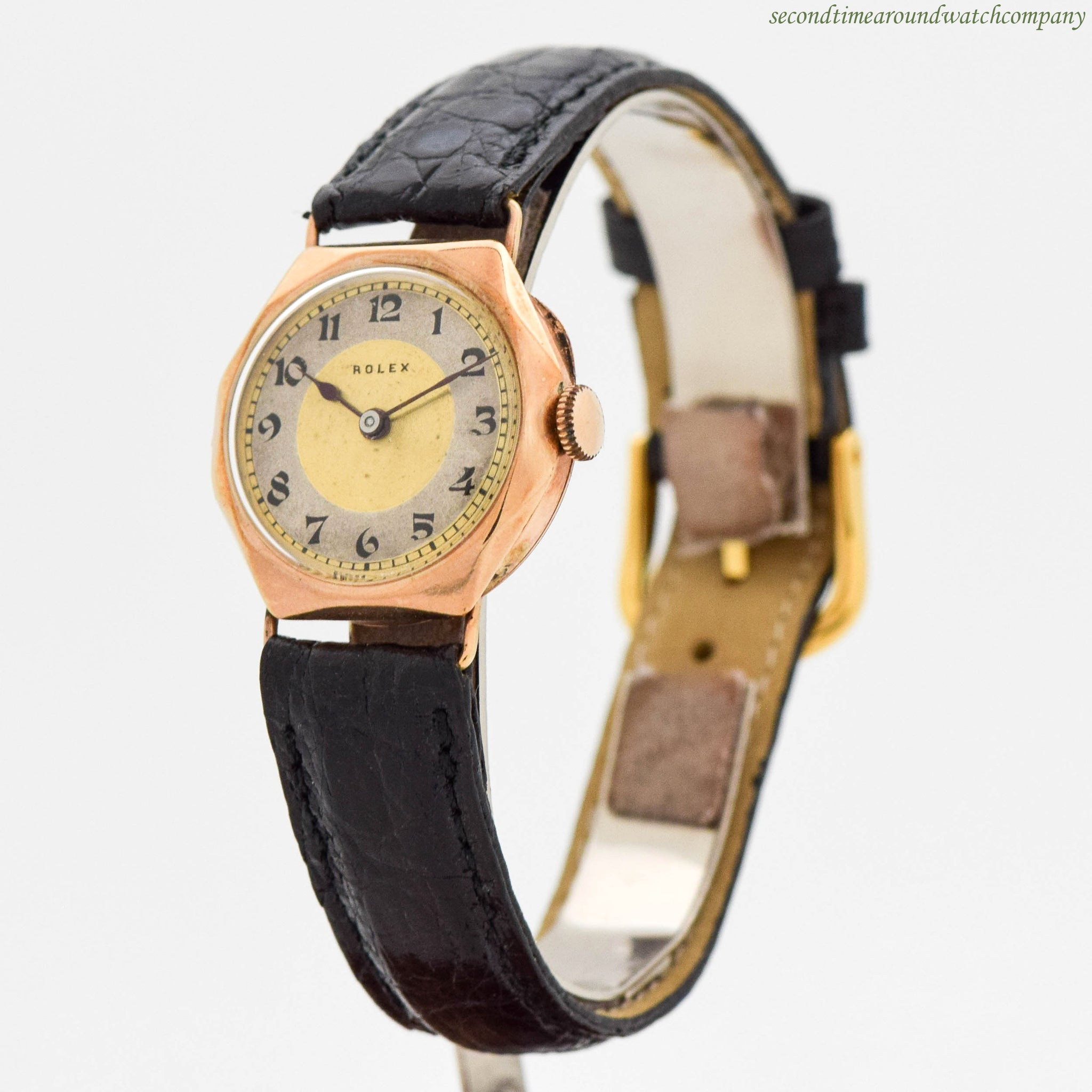 1920's Vintage Rolex Ladies 9K Yellow Gold Watch