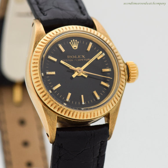 1978 Vintage Rolex Ladies Oyster Perpetual Ref. 6917 14k Yellow Gold Watch