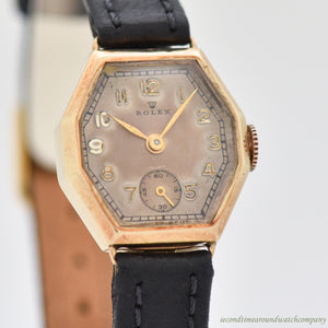 1930 Vintage Rolex Precision Ladies Ref. 1417 9k Yellow Gold Watch