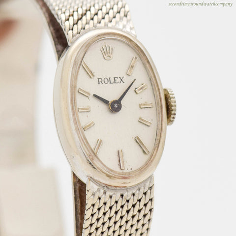 1966 Vintage Rolex Ladies 14K White Gold Watch