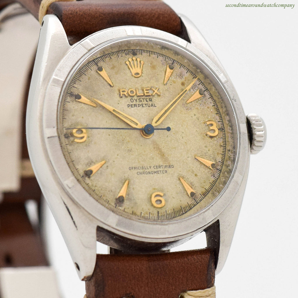 1958 Vintage Rolex Oyster Perpetual Ref. 6085 Stainless Steel Watch ... dc7e0ba16cb4