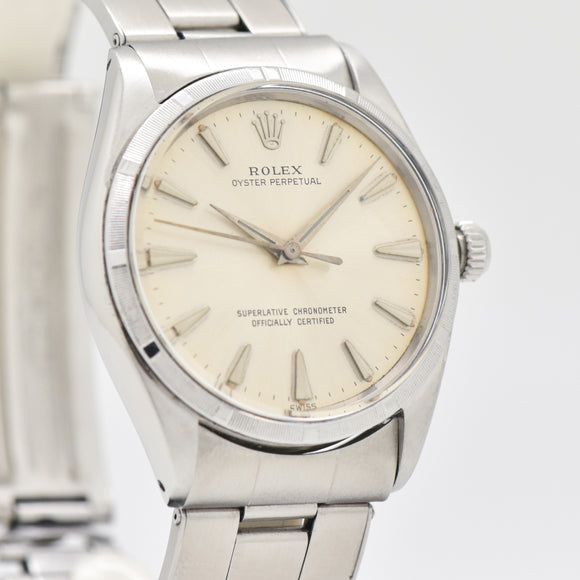 1963 Vintage Rolex Oyster Perpetual Reference 1003 bStainless Steel Watch