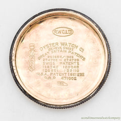 1927 Vintage Rolex Oyster 9K Rose Gold watch
