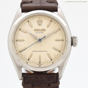 1955 Vintage Rolex Oyster Ref. 6480 Stainless Steel Watch