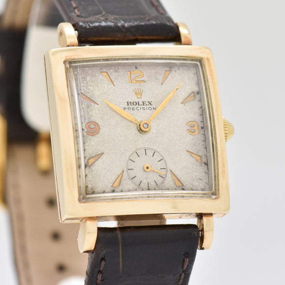 1940's Vintage Rolex Precision Ref. 4470 14k Yellow Gold Watch