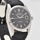 1955 Vintage Rolex Datejust Ovettone Reference 6305-2 Stainless Steel Watch