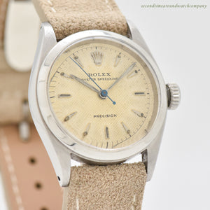 1954 Vintage Rolex Speedking Reference 6220 Stainless Steel Watch