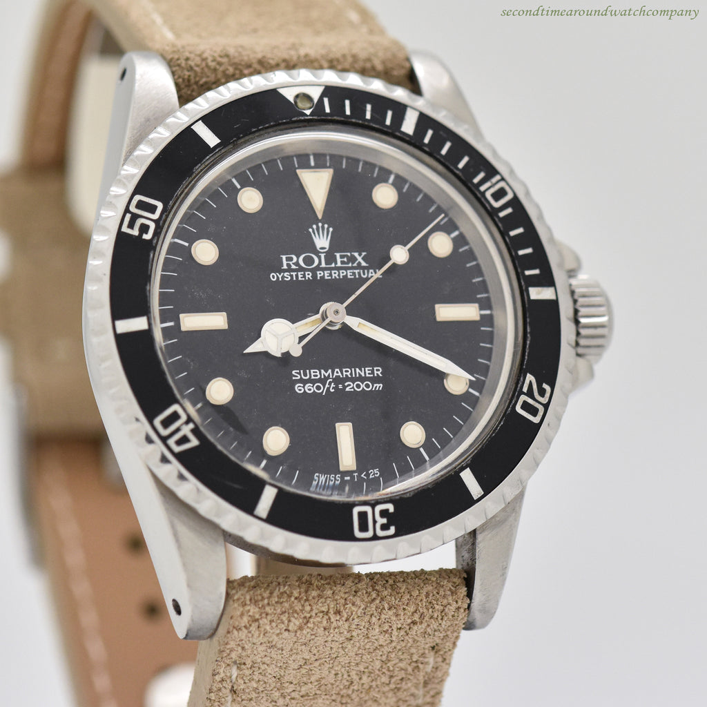 1986 Vintage Rolex Submariner Ref. 5513 Stainless Steel Watch