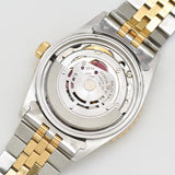 1985 Vintage Rolex Thunderbird Datejust Quick Set 18k Yellow Gold & Stainless Steel Watch (# 13439)