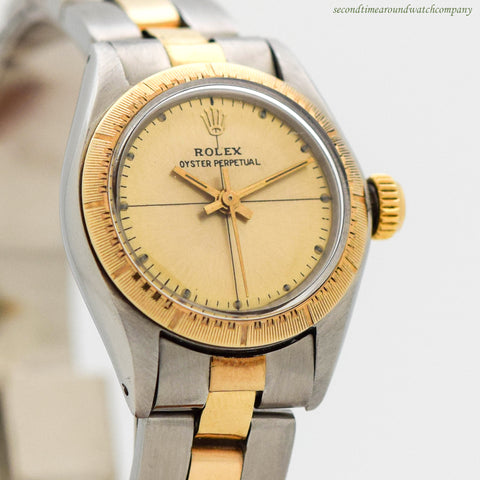 1981 Vintage Rolex Ladies Oyster Perpetual Ref. 6724 Watch