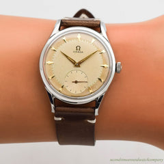 1956 Vintage Omega Ref. 2892-2-SC Stainless Steel Watch