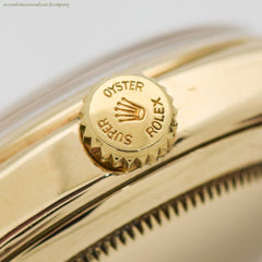 1955 Vintage Rolex Oyster Perpetual Bombe Ref. 6018 14k Yellow Gold Watch
