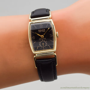 1941 Vintage Gruen Veri-Thin Precision Drivers 10k Yellow Gold Filled Watch