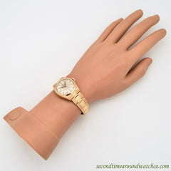 1950 Vintage Rolex Super Oyster Ref. 6084 18k Rose Gold Watch