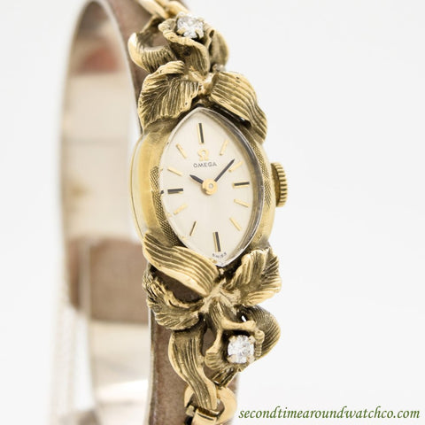 1969 Vintage Omega Ladies 14k Yellow Gold Watch