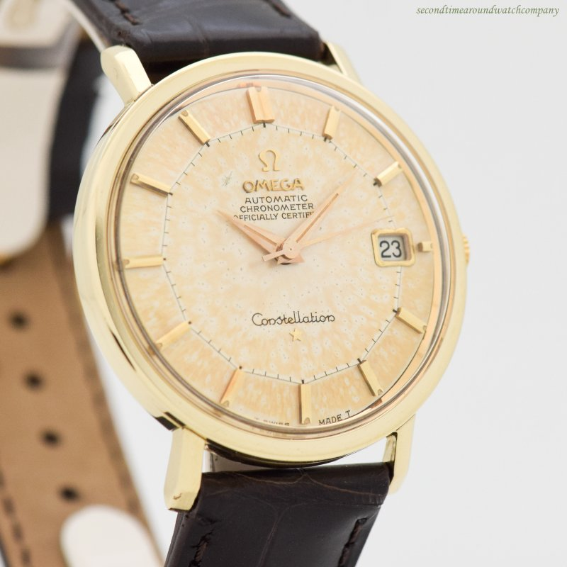 1966 Vintage Omega Constellation Reference 168.004 14k Yellow Gold & Stainless Steel Watch