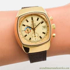 1972 Omega Seamaster 2 Register Chronograph Yellow Gold Plated Ref. 176.005