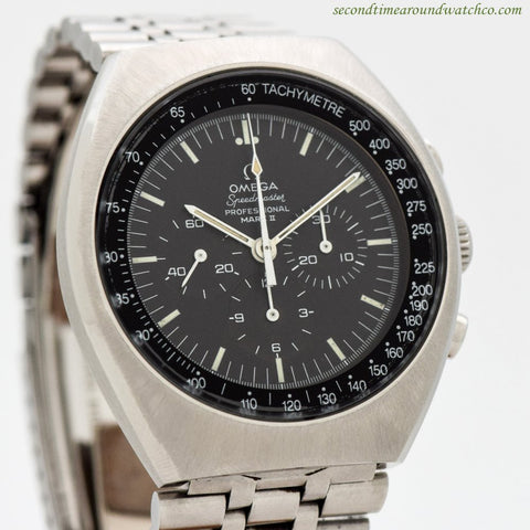 1969 Vintage Omega Speedmaster Professional Mark II Ref. 145.014 Stainless Steel Watch