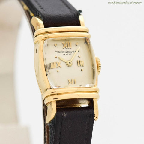 1940's Vintage Vacheron Constantin Ladies 18k Yellow Gold Watch