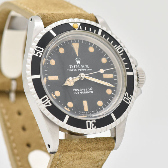 1970 Vintage Rolex Submariner Reference 5513 Stainless Steel Watch (# 13446)