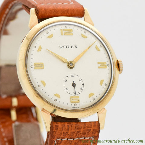 1930's Vintage Rolex 9K Yellow Gold Watch