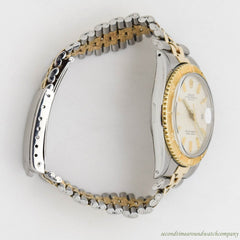 1966 Vintage Rolex Thunderbird Datejust Ref. 1625 14k Yellow Gold & Stainless Steel Watch