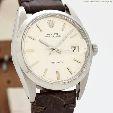 1971 Vintage Rolex Oysterdate Precision Ref. 6694 Stainless Steel Watch