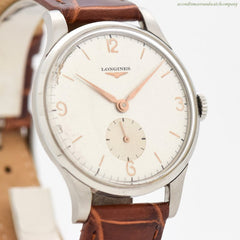 1950 Vintage Longines Stainless Steel Watch