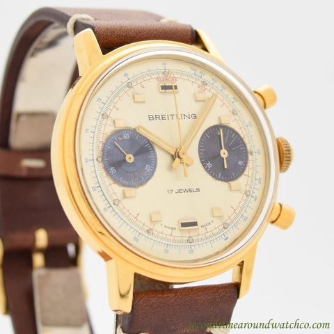 1972 Vintage Breitling Chronograph Ref. 9122 Yellow Gold Filled Watch