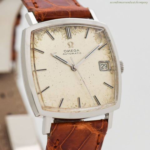 1966 Vintage Omega Reference 162.025 Rectangular-shaped Stainless Steel Watch