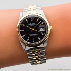 1981 Vintage Rolex Date Automatic Ref. 15000 14k Yellow Gold & Stainless Steel Watch