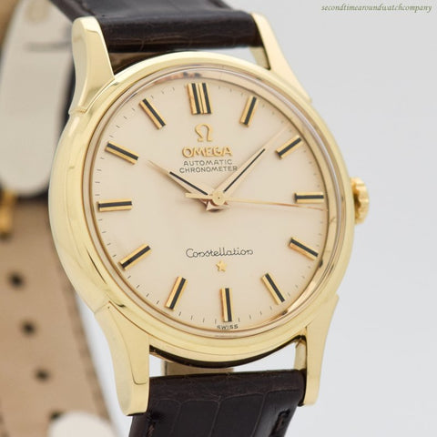1961 Vintage Omega Constellation Ref. 14381/2-SC 14k Yellow Gold