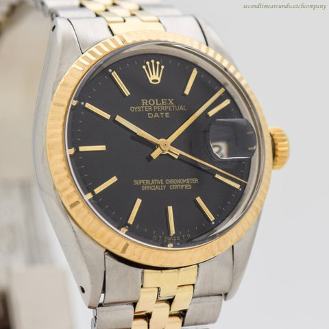 1969 Vintage Rolex Date Automatic Ref. 1512/1500 18k Yellow Gold & Stainless Steel Watch