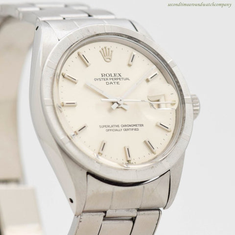 1969 Vintage Rolex Date Automatic Ref. 1501 Stainless Steel Watch