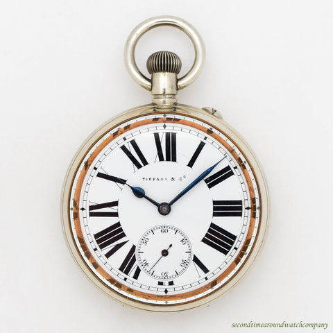 1890's Vintage Tiffany & Co. Pocket Watch in Nickel