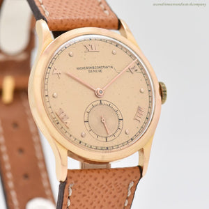 1947 Vintage Vacheron Constantin 18k Light Rose Gold Watch