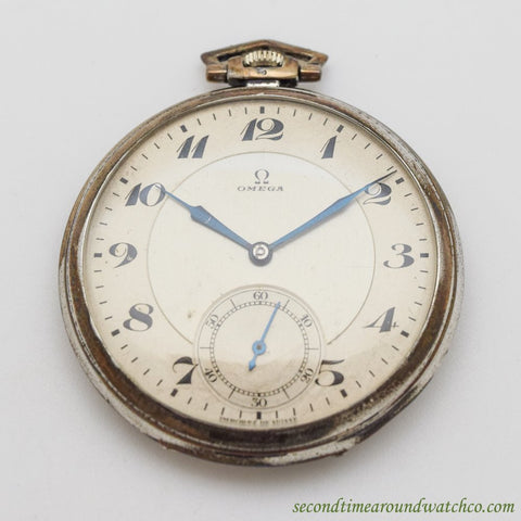 1933 Vintage Omega Silver Pocket Watch