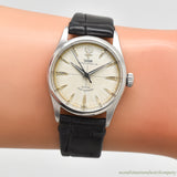 1956 Vintage Tudor Oyster Prince-34 Reference 7909 Stainless Steel Watch