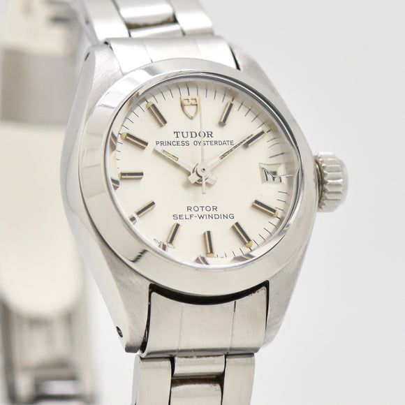 1973 Vintage Tudor By Rolex Ladies Prince Oyster Date Stainless Steel Watch (#13370)