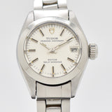 1973 Vintage Tudor By Rolex Ladies Prince Oyster Date Stainless Steel Watch