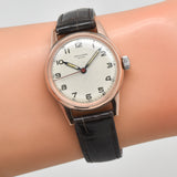 1940's Vintage Universal Geneve 14K Rose Gold & Stainless Steel Watch (# 13413)