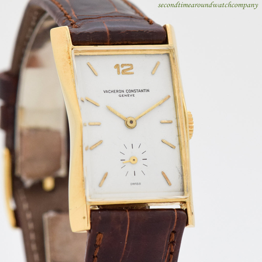 1944 Vintage Vacheron Constantin Rectangular-shaped 18k Yellow Gold Watch