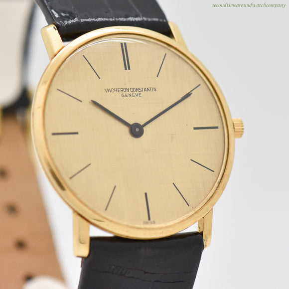 1968 Vintage Vacheron Constantin Ultra-Thin Patrimony Ref. 6872 18K Yellow Gold Watch (# 13146)