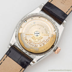 1945 Vintage Rolex Bubbleback Reference 3065 14k Rose Gold & Stainless Steel Watch