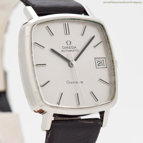 1974 Vintage Omega Geneve Ref. 162.0060 Rectangular-shaped Stainless Steel Watch