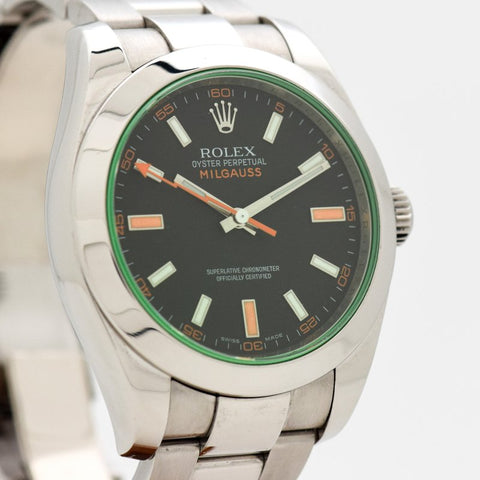 2008 Rolex Milgauss Reference 116400 Stainless Steel Watch